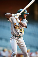 Oakland Athletics James Terrell (52) during an Instructional League game against the Arizona Diamondbacks on October 15, 2016 at Chase Field in Phoenix, Arizona.  (Mike Janes/Four Seam Images)