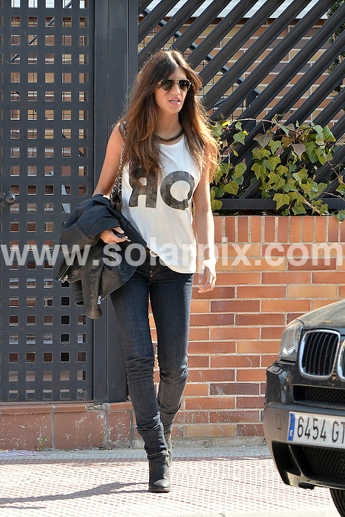 **ALL ROUND PICTURES FROM SOLARPIX.COM** **DOUBLE SPACE RATES APPLY**                                                                                                                                             **WORLDWIDE SYNDICATION RIGHTS EXCEPT SPAIN - NO SYNDICATION IN SPAIN**                                                                                  Caption:  Spain & Real Madrid Goal keeper Iker Casillas and reporter Sara Carbonero seen leaving their madrid home today.The couple plan to get married in July, after the Euro..Carbonero, 28, and Casillas, 30, have been dating for three years and the Real Madrid captain had already proposed several times,                                                                             This pic:   Sara Carbonero                                                                                            JOB REF: 14573       ROL       DATE: 16.03.2012                                                           **MUST CREDIT SOLARPIX.COM OR DOUBLE FEE WILL BE CHARGED**                                                                      **MUST AGREE FEE BEFORE ONLINE USAGE**                               **CALL US ON: +34 952 811 768 or LOW RATE FROM UK 0844 617 7637**