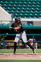Pittsburgh Pirates Emilson Rosado (22) at bat during a Florida Instructional League game against the Detroit Tigers on October 6, 2018 at Joker Marchant Stadium in Lakeland, Florida.  (Mike Janes/Four Seam Images)