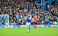 NEEDS CROPPING TIGHTER - Sheffield Wednesday's midfielder Adam Reach (20) scores goal number  1 of the season during the Sky Bet Championship match between Sheff Wednesday and Barnsley at Hillsborough, Sheffield, England on 28 October 2017. Photo by Stephen Buckley / PRiME Media Images.