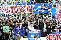 MEDELLÍN - COLOMBIA, 15-12-2013. Jugadores del Atlético Nacional celebran el título como Campeones de la Liga Postobón II 2013 después de derrotar al Deportivo Cali en partido de vuelta de la final jugado en el estadio Atanasio Girardot de la ciudad de Medellín./ Atlético Nacional Players celebrate as a champions of Postobon League II 2013 after defeated Deportivo Cali in the second leg match of the final played at Atanasio Girardot stadium in Medellin city. Photo: VizzorImage / Felipe Caicedo / Staff