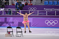 OLYMPIC GAMES: PYEONGCHANG: 23-02-2018, Gangneung Oval, Long Track, 1000m Men, streaker on the ice, ©photo Martin de Jong