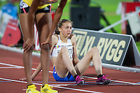 Anita Hinriksdottir (ICE) is a 17 year old girl from Iceland is seen among the contestants at the 800m run at the IAAF Diamond League meeting in Stockholm. She won first place at the World Youth Championships earlier this year.