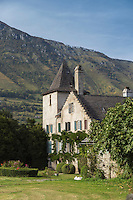 Europe, France, Aquitaine, Pyrénées-Atlantiques, Béarn, Vallée d'Aspe, Bedous : Maison Laclède, fondateur de Saint-Louis au Missouri  // Europe, France, Aquitaine, Pyrenees Atlantiques, Bearn,  Aspe valley , Bedous: Maison Laclède, founder of St. Louis, Missouri