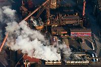 ArcelorMittal Hamburg GmbH: EUROPA, DEUTSCHLAND, HAMBURG, (EUROPE, GERMANY), 26.06.2011: <br /> ArcelorMittal Hamburg wurde 1969 als Hamburger Stahlwerke GmbH gegruendet und ist einer der groessten Hersteller von Qualitaetswalzdraht in Deutschland. Es ist eines der weltweit fuehrenden Unternehmen im Bereich der Qualitaetswalz- drahtproduktion mit Mini-Mill-Konzept. Eine Besonderheit besteht in der eigenen Direkt- reduktionsanlage, der einzigen in Westeuropa, in der bis zu 600.000 t ES/a erzeugt werden. Ausserdem ist ArcelorMittal Hamburg Pionier in den Bereichen Produktivitaet und Energieeffizienz. Die Lage im groessten deutschen Seehafen sichert wichtige logistische Vorteile. <br /> ArcelorMittal Hamburg gehoert zum weltgroessten Stahlkonzern ArcelorMittal, dessen Zentrale in Luxemburg liegt.<br /> Aufwind-Luftbilder, Luftbild, Luftaufname, Luftansicht