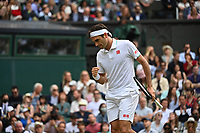3rd July 2021; Wimbledon, SW London. England; Wimbledon Tennis Championships, day 6;  Roger Federer , Switzerland