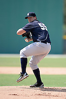New York Yankees pitcher Jonathan Holder (55) during an Instructional League game against the Pittsburgh Pirates on September 18, 2014 at the Pirate City in Bradenton, Florida.  (Mike Janes/Four Seam Images)