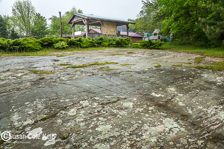 The Agassiz Outcrop - Glacial scrapes in Ellsworth, Maine, USA