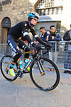Rigoberto Uran Uran (COL) Etixx-Quick Step makes his way to sign on before the start of the 2015 Strade Bianche Eroica Pro cycle race 200km over the white gravel roads from San Gimignano to Siena, Tuscany, Italy. 7th March 2015<br /> Photo: Eoin Clarke www.newsfile.ie