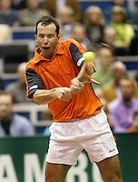 25-2-06, Netherlands, tennis, Rotterdam, ABNAMROWTT, Radek Stepanek in action against Nikolay Davydenko