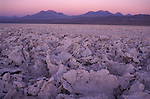Salt fats, rocks of dried salt washed down from the mountains. Atacama Desert Chile