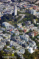 aerial photograph of Coit Tower Telegraph Hill, San Francisco, California