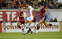 Jacksonville, FL - Thursday April 5, 2018: Bianca Sierra, Alex Morgan, Christina Murillo during an International friendly match versus the women's National teams of the United States (USA) and Mexico (MEX) at EverBank Field.