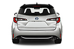 Straight rear view of 2019 Toyota Corolla-TS-hybrid Style 5 Door Wagon Rear View  stock images