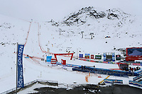16th October 2020, Rettenbachferner, Soelden, Austria; FIS World Cup Alpine Skiing course set up; Alpine Ski World Cup 2020-2021 - during the Coronavirus Outbreak . One day before the Giant Slalom as part of the Alpine Ski World Cup in Solden; The ski course at the glacier