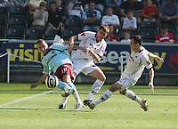 Pictured: Àngel Rangel of Swansea City<br /> Coca Cola Championship, Swansea City FC v Burnley at the Liberty Stadium, Swansea. Saturday 20 September 2008.