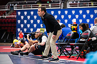 STANFORD, CA - March 7, 2020: Head Coach Jason Borrelli of Stanford during the 2020 Pac-12 Wrestling Championships at Maples Pavilion.