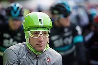 POC green Cannonale rider/astronaut Nathan Brown at the start<br /> <br /> 102nd Liège-Bastogne-Liège 2016