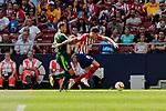 Atletico de Madrid's Jose Maria Gimenez and SD Eibar's Sergi Enrich during La Liga match. September 15, 2018. (ALTERPHOTOS/A. Perez Meca)
