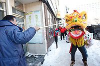 Celebration du nouvel an chinois (annee du cheval), au Quartier chinois de Montreal,<br /> 10  fevrier 2013
