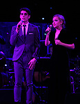 Kyle Selig and Stephanie Styles on stage at the Dramatists Guild Foundation 2018 dgf: gala at the Manhattan Center Ballroom on November 12, 2018 in New York City.