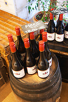 Wine shop. Marc de Bourgogne. Domaine Negociant Champy Pere & Fils, Beaune, Burgundy, France