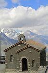 Chapel at the summit observatory in the Alps above Zermatt, Switzerland.