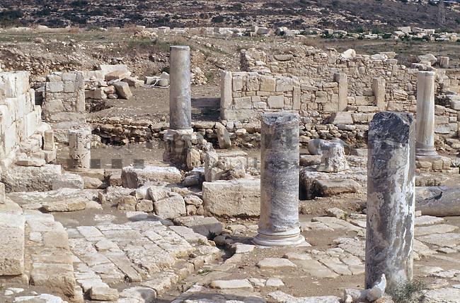 Archeological site of Kourion, Curium, near Limassol, Cyprus. Zypern.