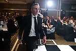 © Joel Goodman - 07973 332324 . 03/03/2016 . Manchester , UK . Team of the Year crime (obo Olliers Solicitors ) MATTHEW CLAUGHTON (centre) . The Manchester Legal Awards from the Midland Hotel . Photo credit : Joel Goodman
