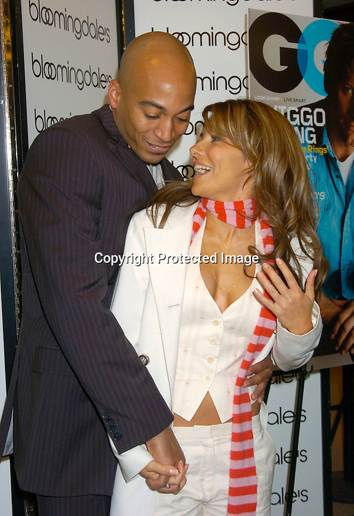 Vanessa Marcil and James Lesure ..at a GQ Magazine Las Vegas night party at Bloomingdales ..on March 18, 2004... Photo by Robin Platzer, Twin Images