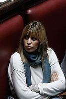 Alessandra Mussolini.Roma 25/01/2012 Voto alla Camera dei Deputati per la mozione unitaria sulla politica europea dell'Italia.Foto Insidefoto Serena Cremaschi