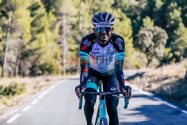 Tsgabu Grmay (ETH) Team BikeExchange men's squad during their recent training camp in Calpe, Spain. 18th January 2021.<br /> Picture: Sara Cavallini/GreenEDGE Cycling   Cyclefile<br /> <br /> All photos usage must carry mandatory copyright credit (© Cyclefile   Sara Cavallini/GreenEDGE Cycling)