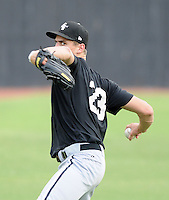 Pitcher Jeffrey Soptic (23) of the Bristol White Sox, Appalachian League affiliate of the Chicago White Sox, prior to a game against the Elizabethton Twins on August 18, 2011, at Joe O'Brien Field in Elizabethton, Tennessee. Soptic was Chicago's third-round pick in the 2011 First-Year Player Draft. (Tom Priddy/Four Seam Images)