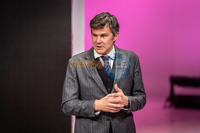Paolo Bellino, CEO and General Manager of RCS Sport, at the presentation of the 2021 Giro d'Italia Route in the Rai Studios in Corso Sempione, Milan, Italy. 23rd February 2021.  <br /> Picture: LaPresse/Claudio Furlan | Cyclefile<br /> <br /> All photos usage must carry mandatory copyright credit (© Cyclefile | LaPresse/Claudio Furlan)