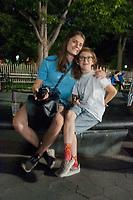 Eliza and Max, Washington Square Park, Manhattan, New York, US