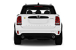 Straight rear view of a 2018 Mini Countryman S 5 Door Hatchback stock images