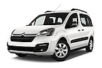 Stock pictures of low aggressive front three quarter view of 2016 Citroen BERLINGO-MULTISPACE XTR+ 5 Door Mini MPV Low Aggressive