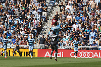 ST. PAUL, MN - AUGUST 21: Romain Metanire #19 of Minnesota United FC and Khiry Shelton #11 of Sporting Kansas City battle for the ball during a game between Sporting Kansas City and Minnesota United FC at Allianz Field on August 21, 2021 in St. Paul, Minnesota.