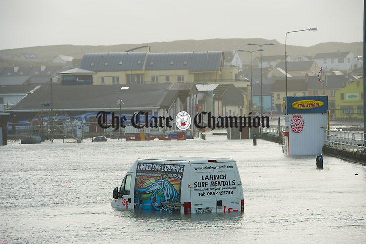 A view of some of the storm damage at Lahinch promenade. Photograph by John Kelly.