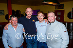 Enjoying the Tyrone and Mayo match in the Sportsfield Bar on Saturday, l to r: Richard Rohan, Johnny Frank, Nathan Daly and Wayne Enright.