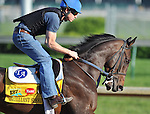 Brilliant Speed, trained by Tom Albertrani, exercises in preparation for the 137th running of the Kentucky Derby at Churchill Downs in Louisville, Kentucky to be run May 7, 2011.