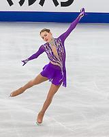Boston, Massachusetts - March 31, 2016: ISU World Figure Skating Championships Boston 2016 - Ladies SP, at TD Garden.