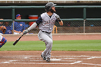 Colorado Springs Sky Sox outfielder Matt Long (12) at bat during a Pacific Coast League game against the Iowa Cubs on May 10th, 2015 at Principal Park in Des Moines, Iowa.  Iowa defeated Colorado Springs 14-2.  (Brad Krause/Four Seam Images)