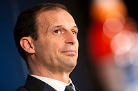 Juventus coach Massimiliano Allegri during press conference the day before Champions League match between Real Madrid and Juventus at Santiago Bernabeu Stadium in Madrid, Spain. April 10, 2018.  *** Local Caption *** © pixathlon<br /> Contact: +49-40-22 63 02 60 , info@pixathlon.de