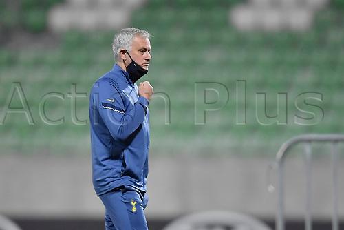 5th November 2020; RAZGRAD, BULGARIA; UEFA Europa League football, group stages;  Ludogorets Razgrad versus Tottenham Hotspur;  Jose Mourinho head coach of the Tottenham Hotspur