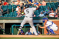 Jabari Henry (5) of the Jackson Generals during a game between the Jackson Generals and Chattanooga Lookouts at AT&T Field on May 7, 2015 in Chattanooga, Tennessee. (Brace Hemmelgarn/Four Seam Images)
