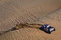 4th January 2021; Dakar Rally stage 2;  #300 Sainz Carlos (esp), Cruz Lucas (esp), Mini, X-Raid Mini JCW Team, Auto, action during the 2nd stage of the Dakar 2021 between Bisha and Wadi Al Dawasir, in Saudi Arabia on January 4, 2021
