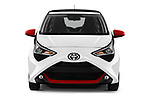 Car photography straight front view of a 2019 Toyota Aygo x-style 5 Door Hatchback
