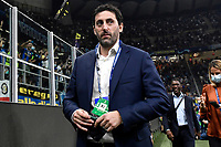 Former player Diego Milito, commentator for Amazon Prime television, looks on during the Uefa Champions League group D football match between FC Internazionale and Real Madrid at San Siro stadium in Milano (Italy), September 15th, 2021. Photo Andrea Staccioli / Insidefoto