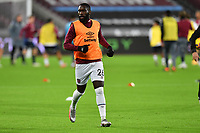 Arthur Masuaku of West Ham United warms up during West Ham United vs Aston Villa, Premier League Football at The London Stadium on 30th November 2020